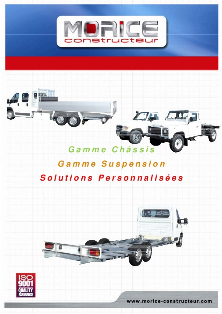 Gamme Châssis   Gamme SuspensionSolutions Personnalisées