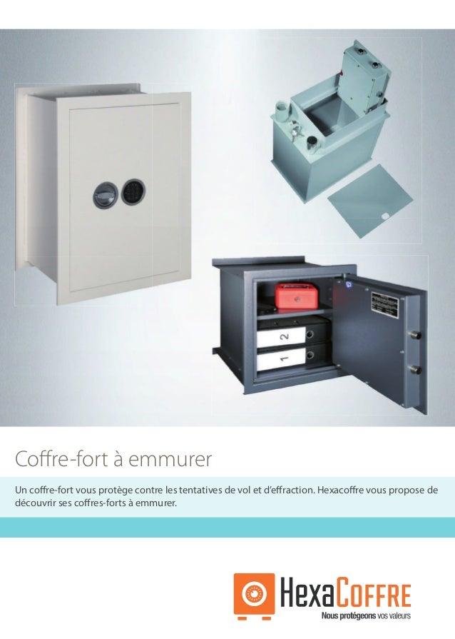 catalogue coffre fort emmurer 2017 par hexacoffre. Black Bedroom Furniture Sets. Home Design Ideas