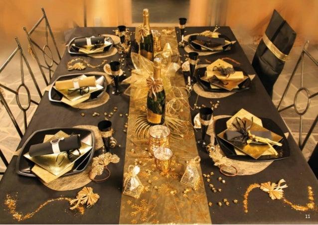 Catalogue d coration de table - Decoration table de noel rouge et or ...