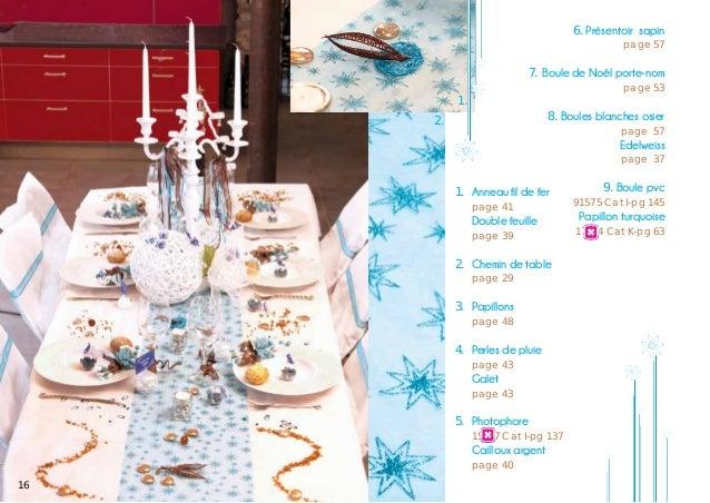 6. Présentoir sapin      1. 2.  page 57  7. Boule de Noël porte-nom    page 53  8. Boules blanches osier page 57  Edelw...