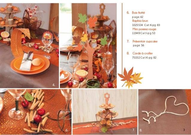 6.  Bois flotté   page 42  Raphia brun   1025534 Cat K-pg 83  Mini pomme rouge   11949 Cat I-pg 53  7. Présentoir cupc...