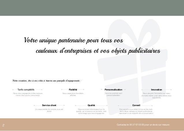 Catalogue cadeaux d'entreprise et objets publicitaires Slide 2