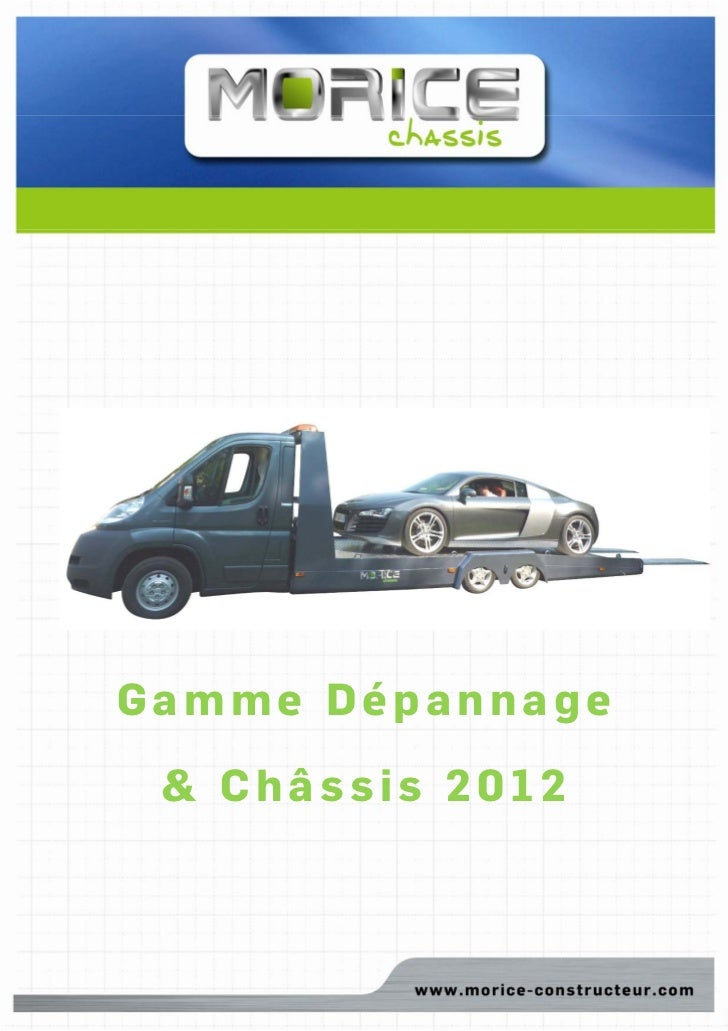 Gamme Dépannage & Châssis 2012