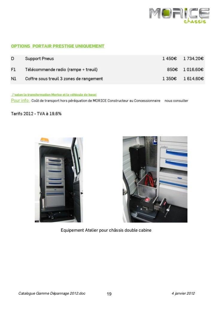 Equipement Atelier pour châssis double cabineCatalogue Gamme Dépannage 2012.doc         19                        4 janvie...
