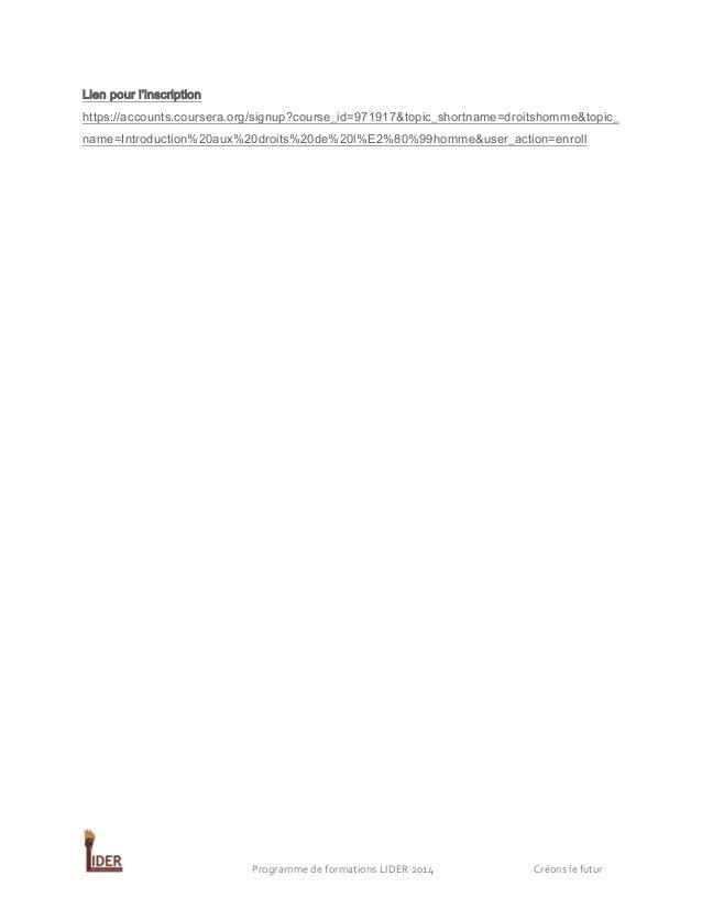 Lien pour l'inscription https://accounts.coursera.org/signup?course_id=971917&topic_shortname=droitshomme&topic_ name=Intr...