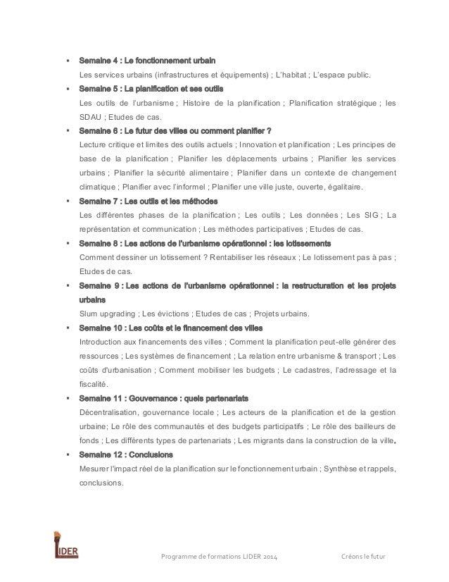   Semaine 4 : Le fonctionnement urbain Les services urbains (infrastructures et équipements) ; L'habitat ; L'espace publi...