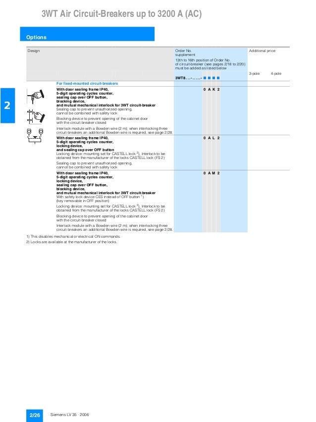 8953660624f Catalogue siemens 3 vt 3wt-lv 35 - 2006