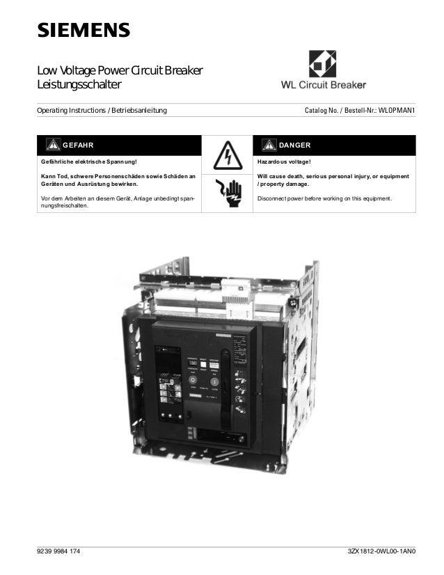 Catalogue siemens acb 3 wl betriebsanleitung ansi 2003-12 dt-am