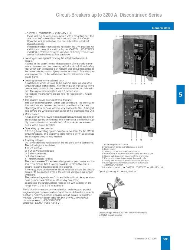 catalogue siemens acb3 wn