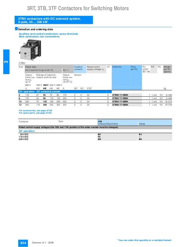 catalogue siemens contactor 3 tb5. Black Bedroom Furniture Sets. Home Design Ideas