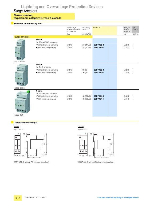 catalogue siemens lightning and overvoltage protection devices. Black Bedroom Furniture Sets. Home Design Ideas