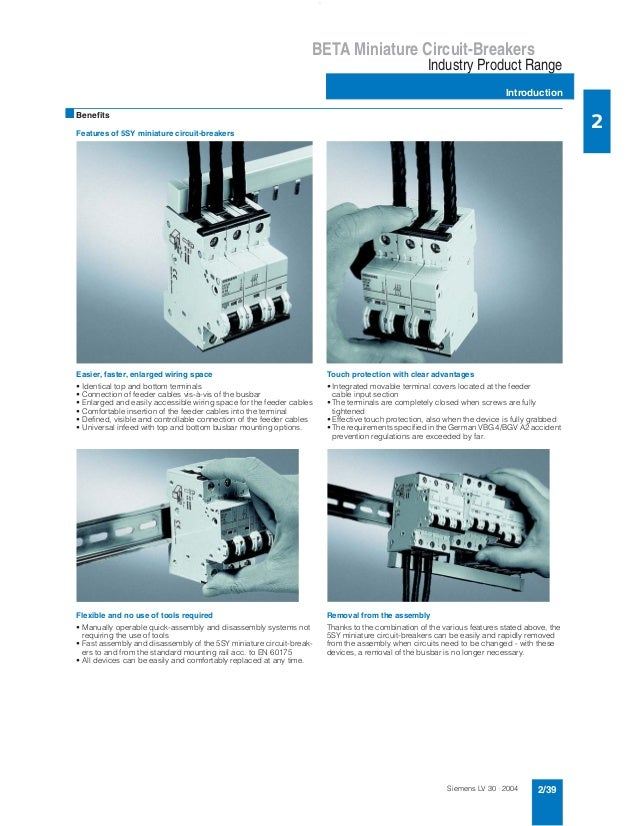 Siemens LV 30 · 2004 2/39 BETA Miniature Circuit-Breakers Industry Product Range Introduction 2 * This quantity or a multi...