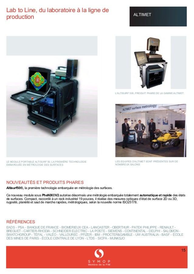 LabtoLine,dulaboratoireàlalignede production ALTIMET LEMODULEPORTABLEALTISURF50,LAPREMIÈRETECHNOLO...