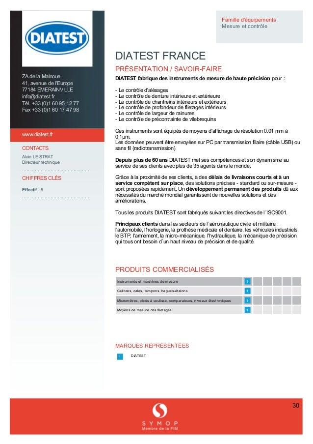 ZAdelaMalnoue 41,avenuedel'Europe 77184EMERAINVILLE info@diatest.fr Tél.+33(0)160951277 Fax+33...