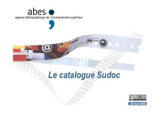 Le catalogue Sudoc 28 mai 2009