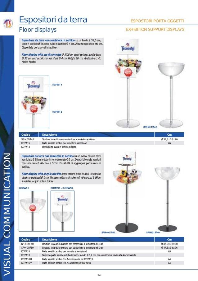PORTAVVISI A4-ORIZ in acrilico per Expo SEMISFERE TECNOSTYL