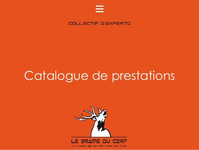 collectif d'experts Catalogue de prestations	 e