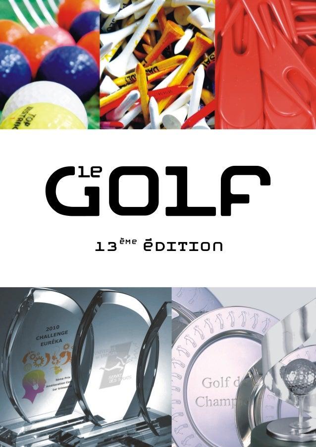 Articles de golf personnalisables