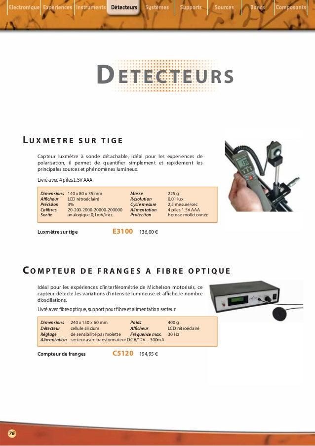 Détecteurs                                     D ETECTEURS     LUXMETRE              SUR TIGE       Capteur luxmètre à son...