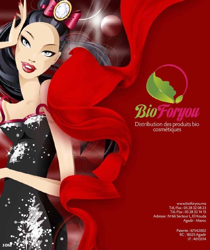 Distribution des produits bio                cosmétiques                                www.bioforyou.ma                  ...