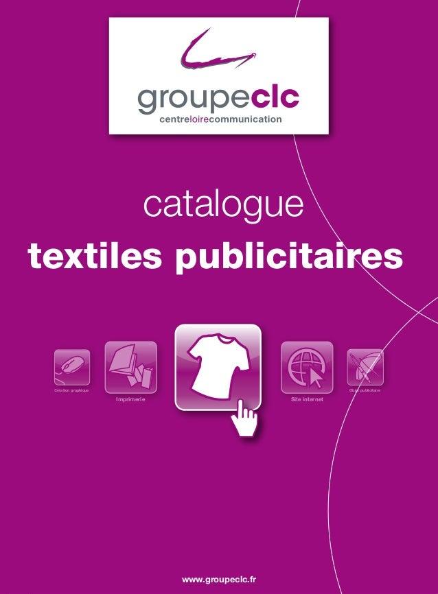 cataloguetextiles publicitaires Création graphique                                                   Objet publicitaire   ...