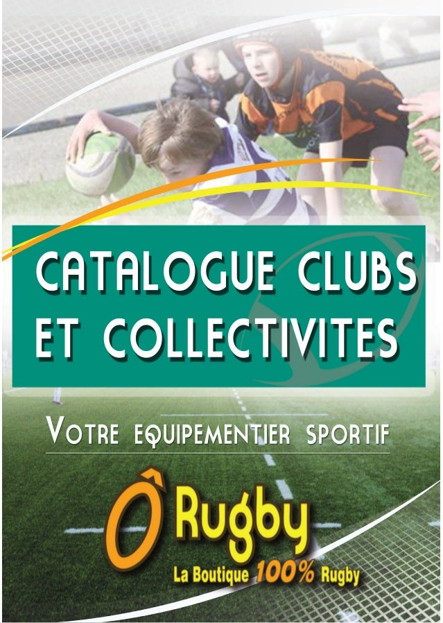 CATALOGUE CLUBS ET COLLECTIVITES