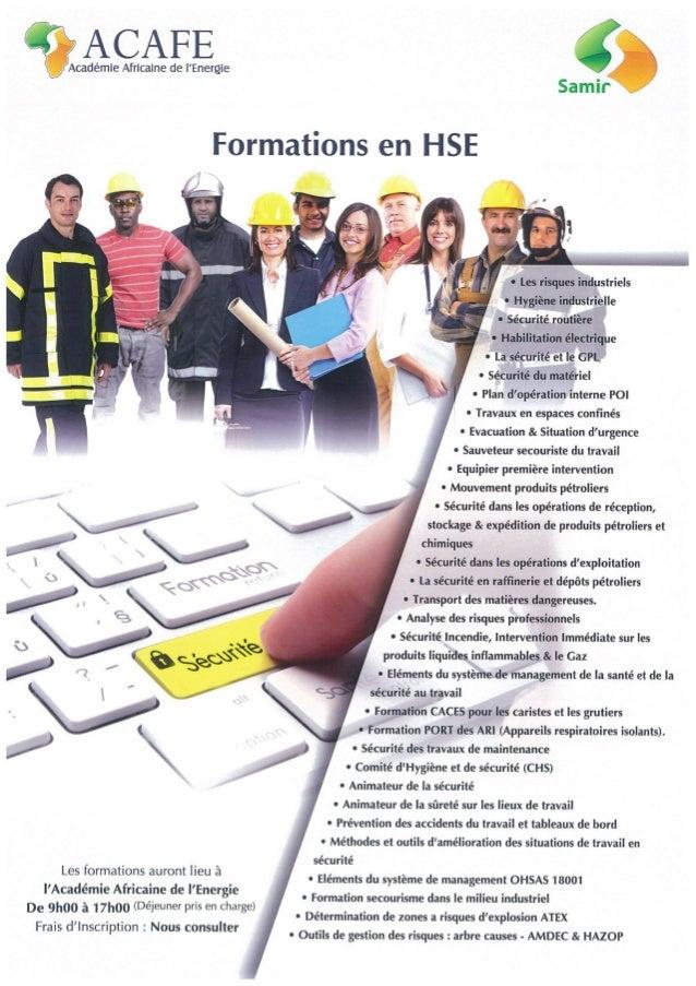 Catalogue de formation 2014 acafe filiale du raffineur samir vers. finale