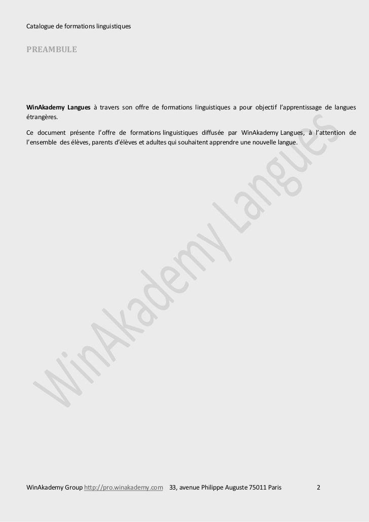 catalogue de formations linguistiques. Black Bedroom Furniture Sets. Home Design Ideas