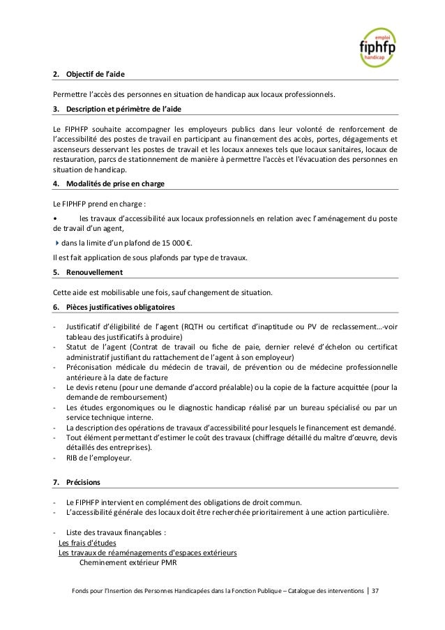 7bf48445784 Catalogue des interventions du Fiphfp mise à jour 15 01 2019