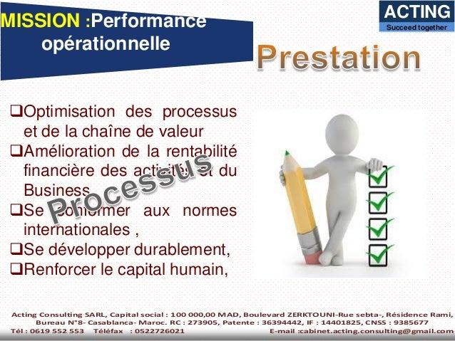 Catalogue des prestations acting consulting - Mission viel bureau de controle ...
