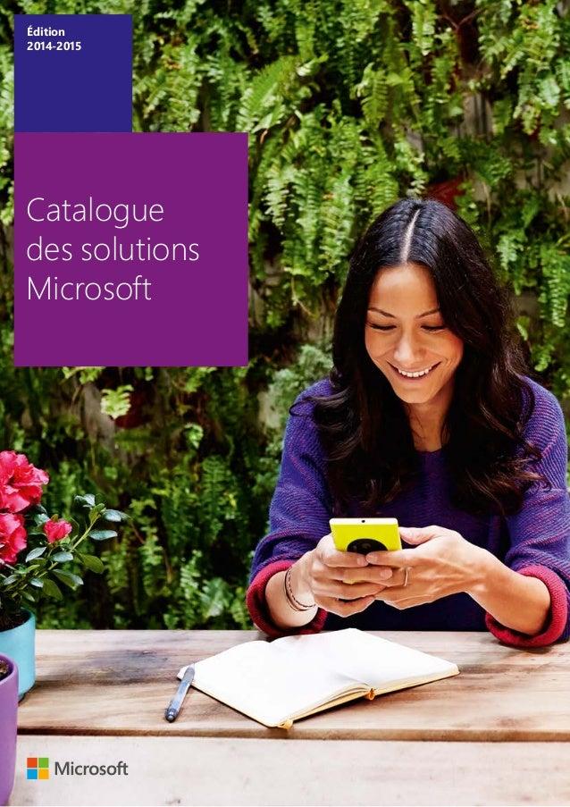 Catalogue des solutions Microsoft Édition 2014-2015