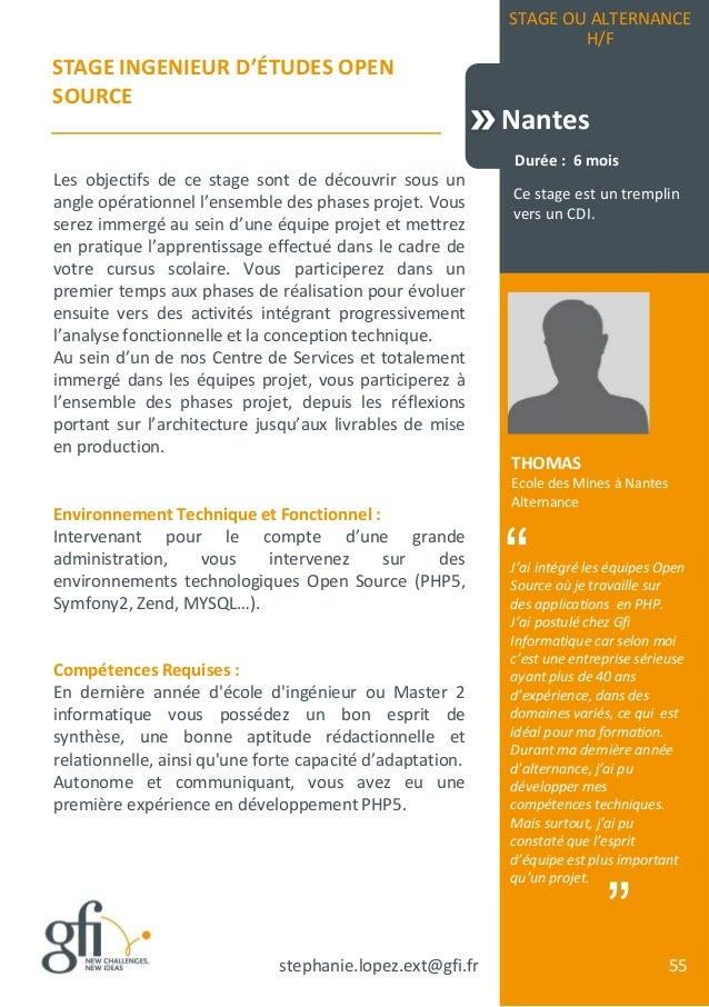 Catalogue De Stages Et D Alternances Gfi Informatique