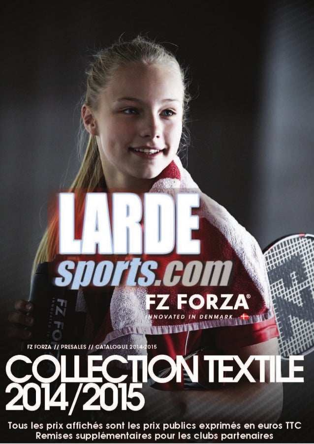 Catalogue textile Forza / Lardesports