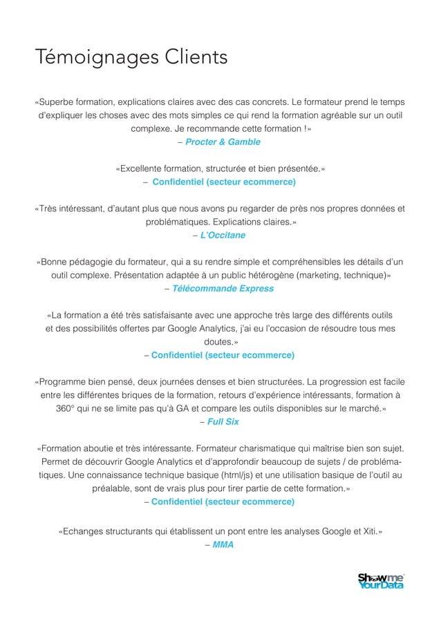 4. Formation Analyzer NX ● Niveau Débutant La formation est orientée sur l'utilisation des tableaux de bord pour comprendr...