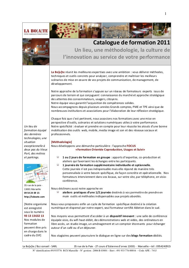 1                                                                 Catalogue de formation 2011                             ...
