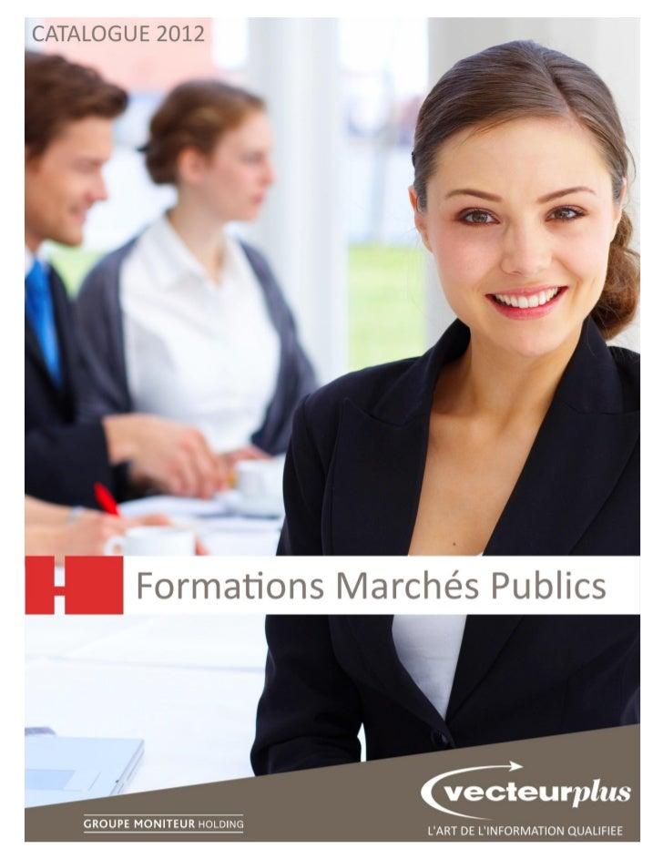 Catalogue 2012   Formations Marchés Publics   Page 1