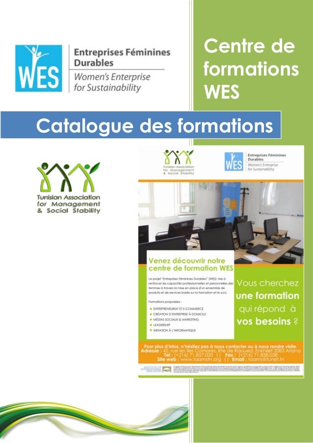 Centre de formations WES Catalogue des formations