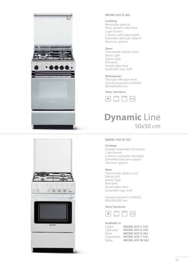 Catalogue free standing cookers catalogo cocinas - Cocinas forlady catalogo ...