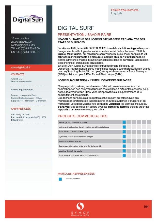 Offre en France Symop - Offre globale (Industrie 2016)
