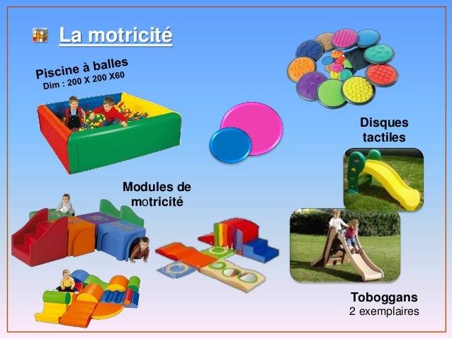 La motricité Modules de motricité Toboggans 2 exemplaires Disques tactiles