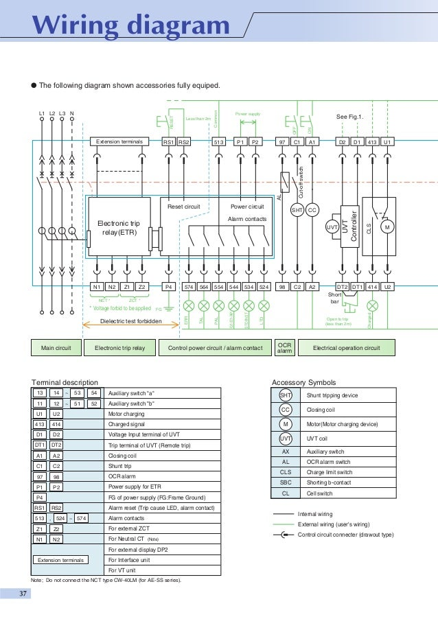 Control Wiring Diagram Of Acb All Kind Of Wiring Diagrams