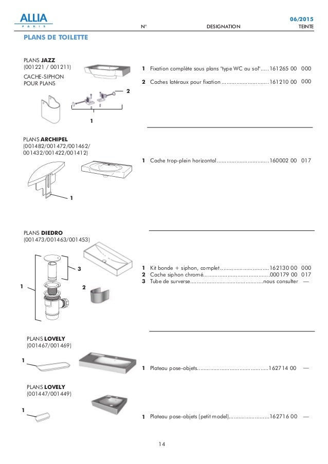 catalogue pièces détachées n2 : lavabos, bidets, éviers, robinetterie…