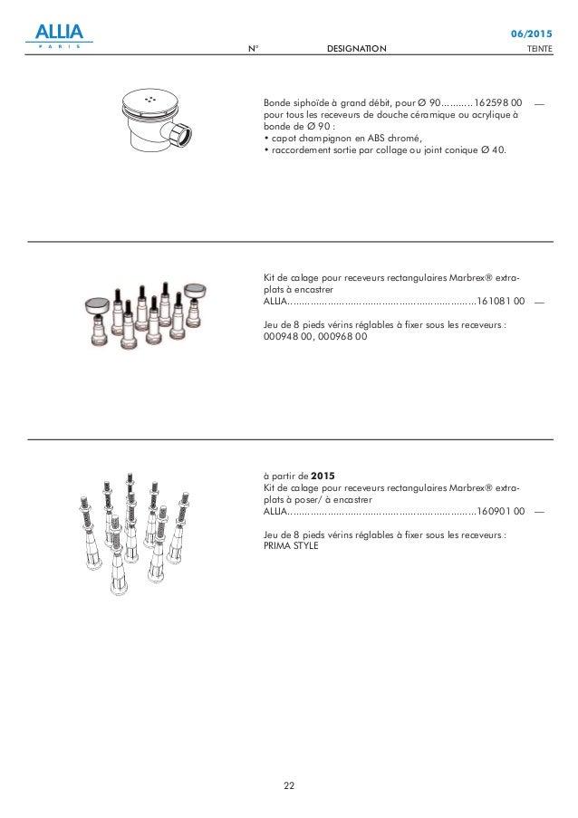 Catalogue pi ces d tach es n3 baignoires baln o receveurs de douc - Notice baignoire balneo ...