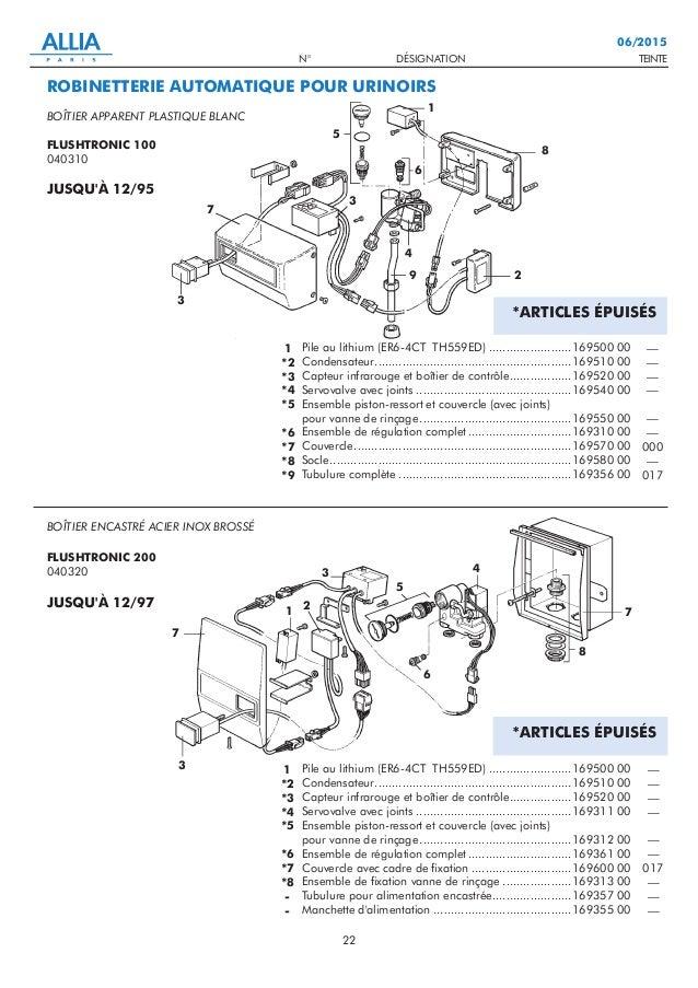 TEINTEN° DÉSIGNATION 22 06/2015 Pile au lithium (ER6-4CT TH559ED) ........................169500 00 Condensateur.............
