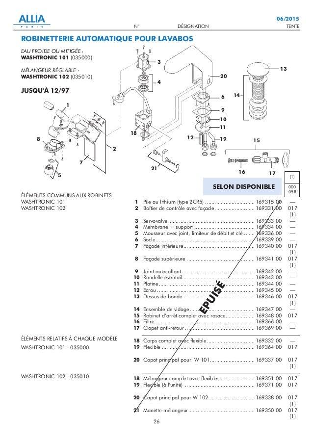TEINTEN° DÉSIGNATION 26 06/2015 1 2 3 4 5 6 7 8 9 10 11 12 13 14 15 16 17 18 19 20 18 19 20 21 Pile au lithium (type 2CR5)...