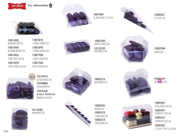 Les Minis  Pvc alimentaire 1001401 5,5X5,5X1,7CM  1001855 6X6X2,2CM  1001875 12X8,5X3CM  1001860 8,5X8,5X3CM 1001865 10X7X...