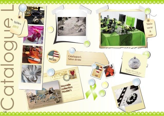 Catalogue L  Table s 2013  130  Table verte & noir  Catalogue L  Tables de fête  Boule portede noël nom ou ???  elle Nouv ...