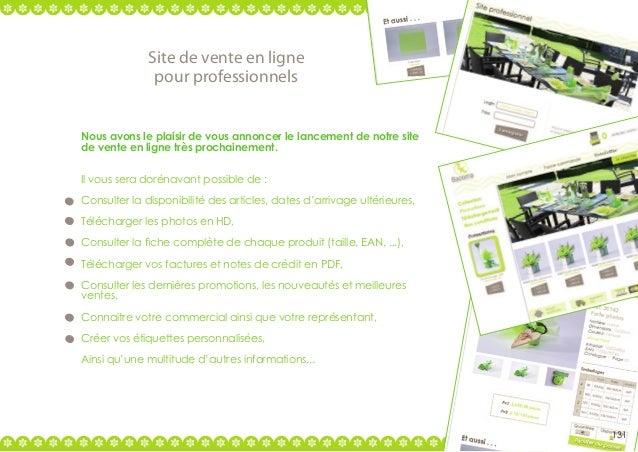 Site de vente en ligne pour professionnels Nous avons le plaisir de vous annoncer le lancement de notre site de vente en l...