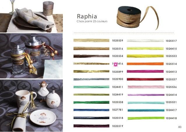 Raphia  Choix parmi 23 couleurs  1025539  1025517  1025516  1024415  1025534  1025533  1024416  1025514  1025899  1024413 ...
