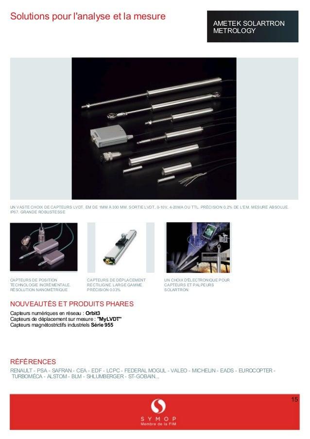 Offre en france symop mesure et contr le micronora 2014 for Buroplus catalogue